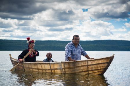 George B . Dougie in skin boat.jpg